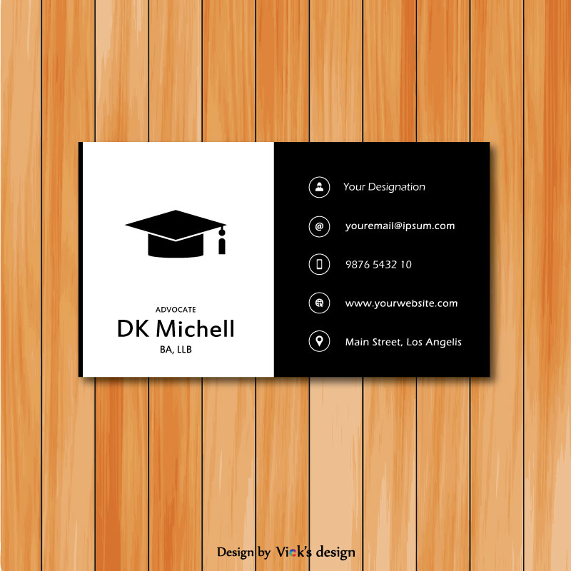 advocate black and white vertical shape design personal business card - What To Put On A Personal Business Card