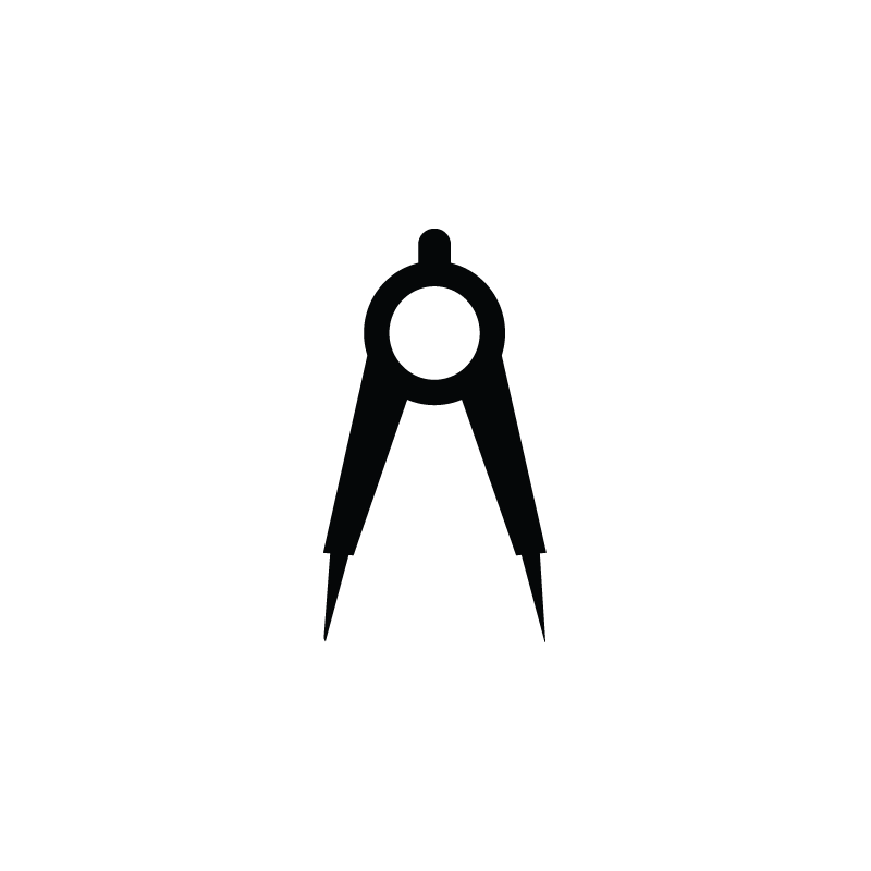 Architecture Tools Engineer Compasses Drawing Icon