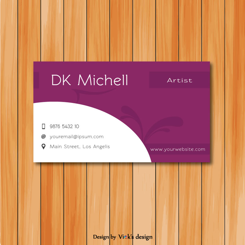 Artist designer theme maroon color personal business card vector artist designer theme maroon color personal business card colourmoves