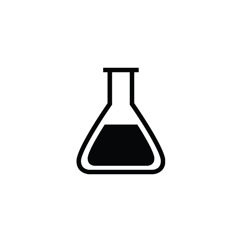 Biology lab tube, flask, research laboratory icon