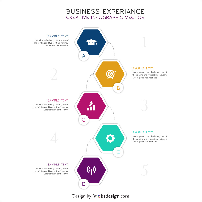business experience creative infographic vector, creative idea, company journey in way displaying, marketing overview vector