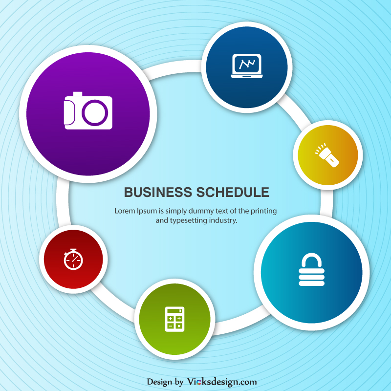 Business Info graphics schedule poster add vector design