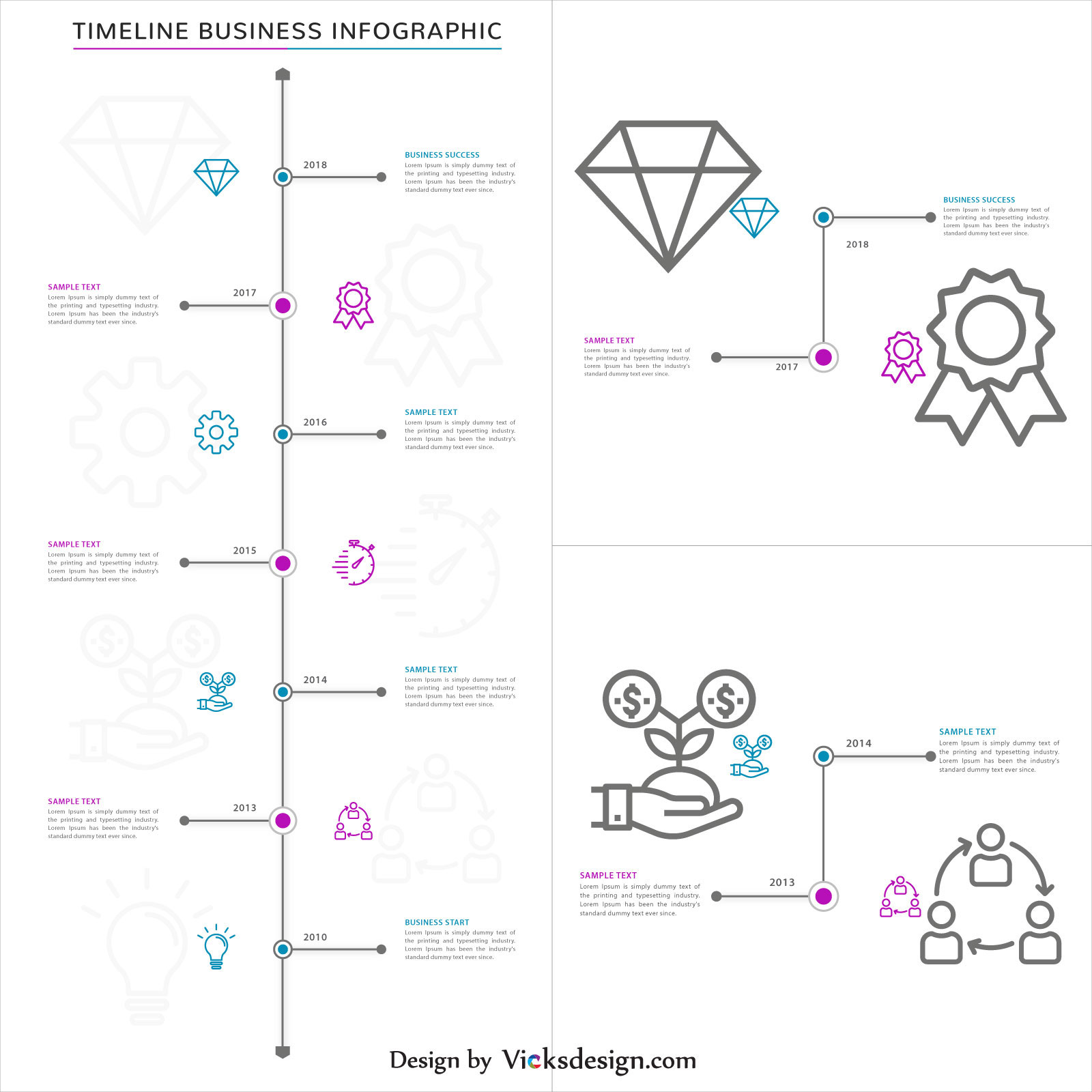 Business success steps, timeline business infographics with world map, project success, about company experience vector design