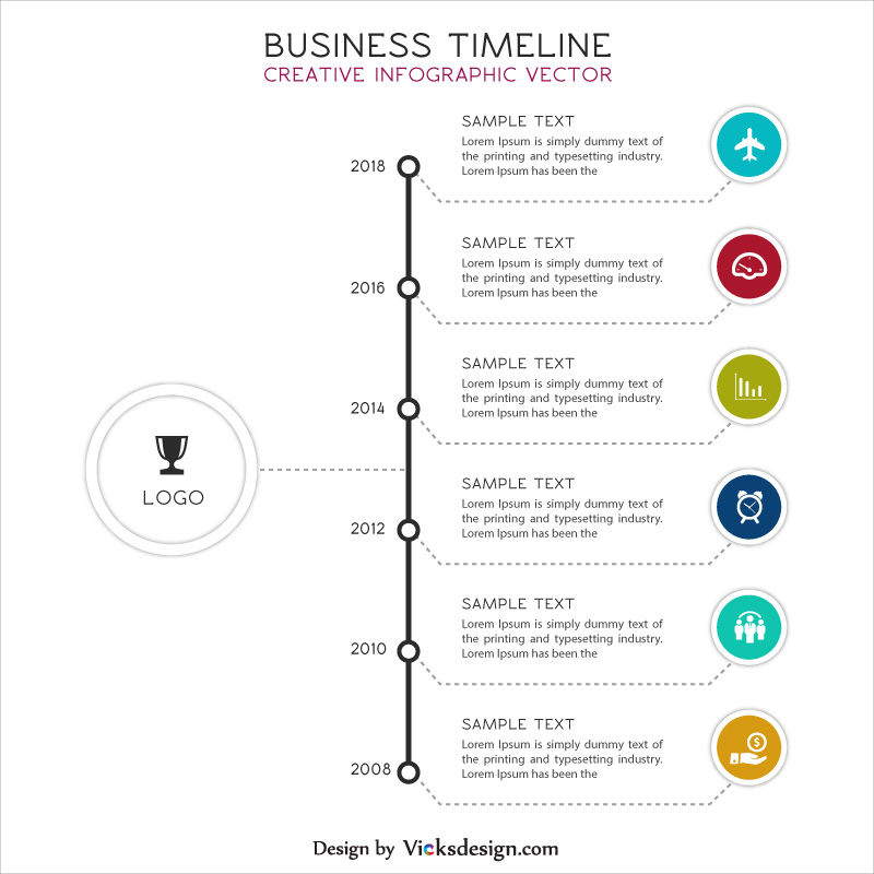 Business timeline creative info graphic vector, company strategy timeline, project success steps in timeline vector