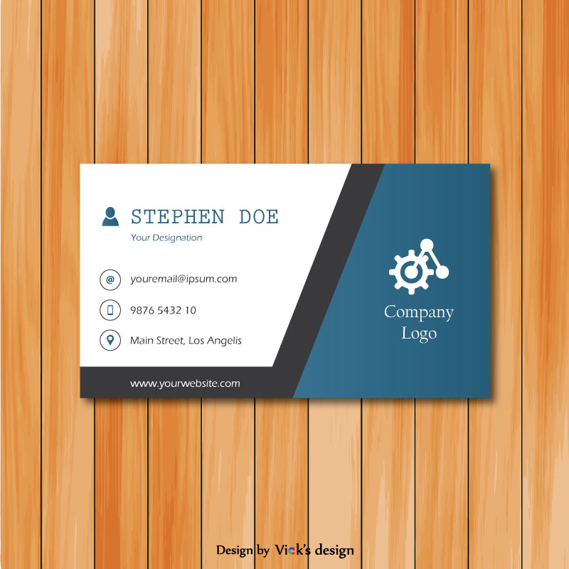 Clean & simple engineering theme corporate business card