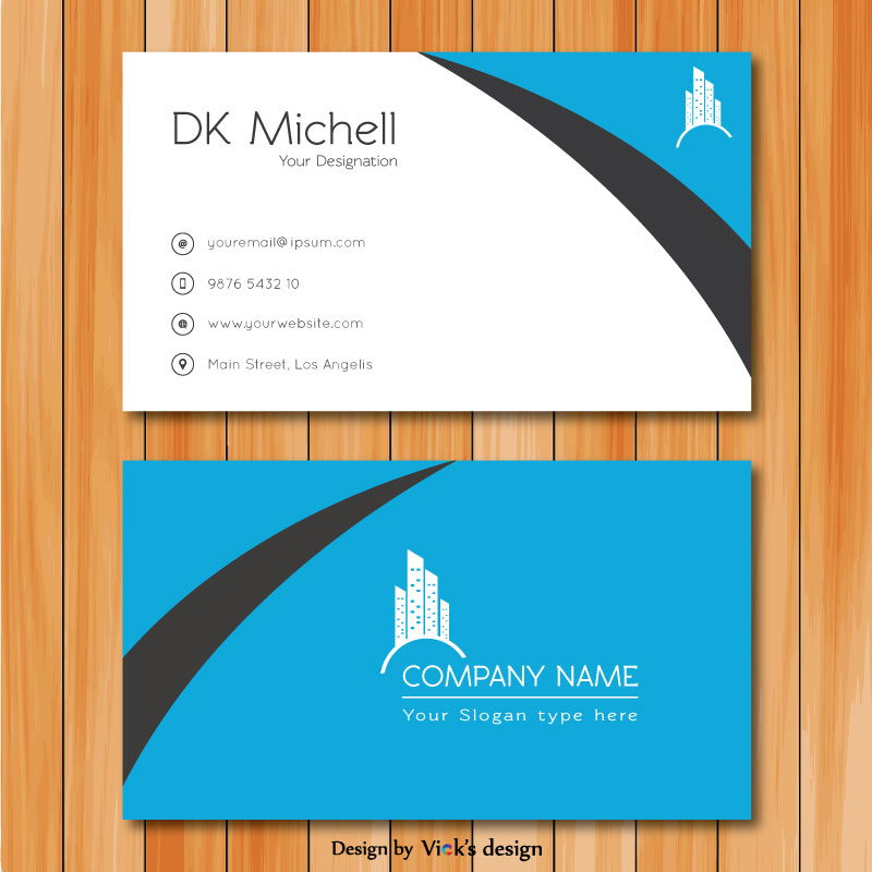 Corporate creative clean front back with logo business card corporate creative clean front back with logo business card template fbccfo Images
