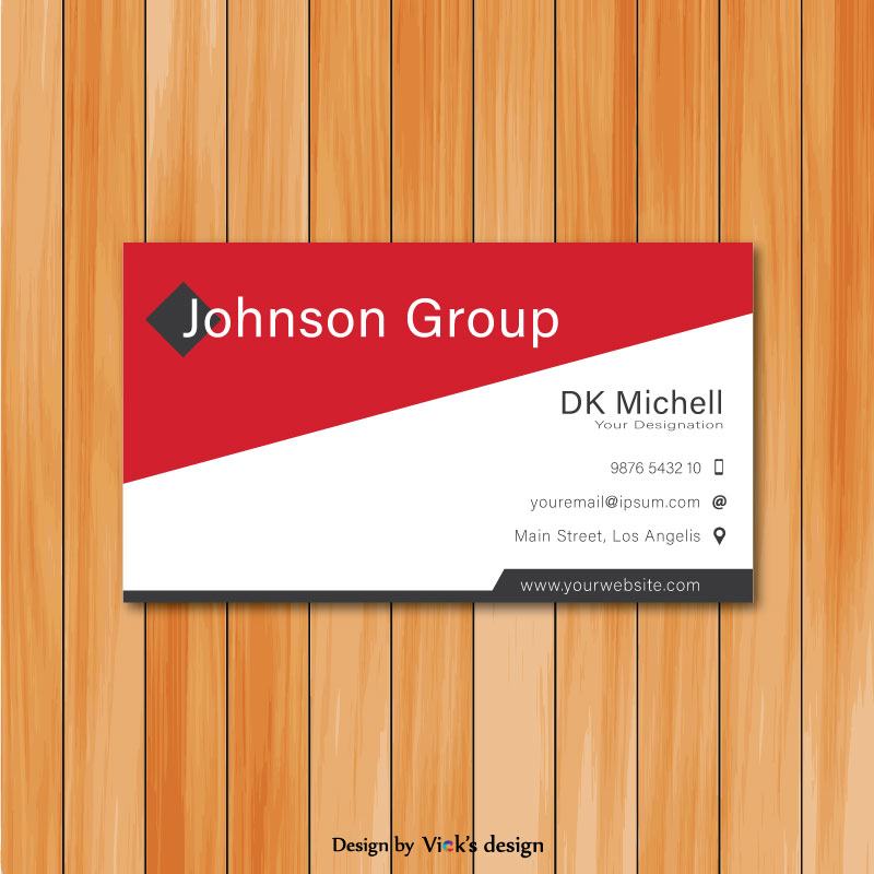 Cross red creative corporate business card