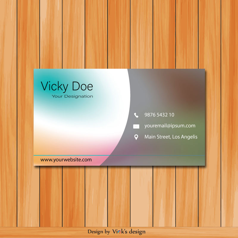 Curves Mix Theme Personal Business card vector