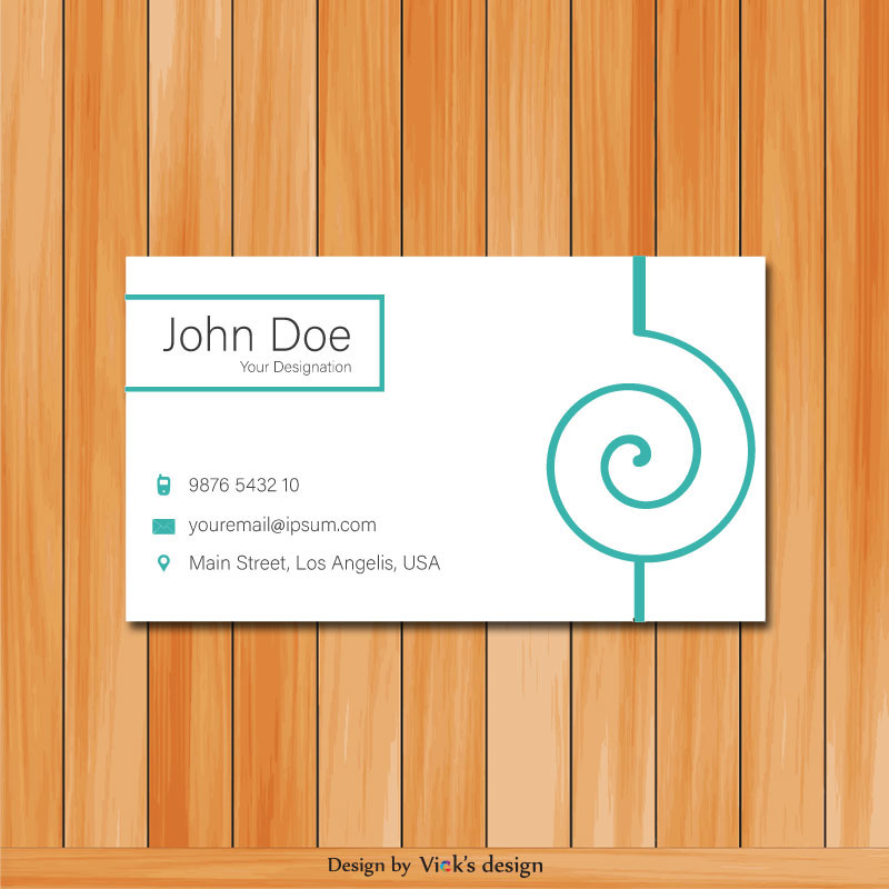 Round shape design personal business card vector round shape design personal business card colourmoves Images