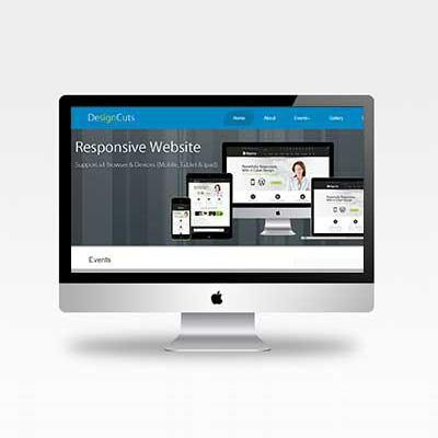 Designing company website template