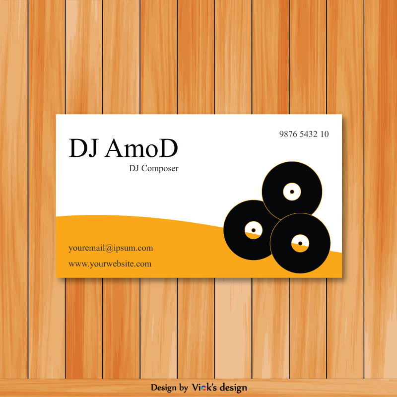 DJ composer, Sound Mixer Business card vector