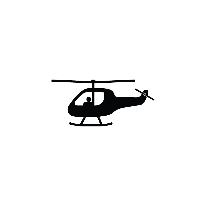 Helicopter, aircraft, flight, transport, vehicle icon