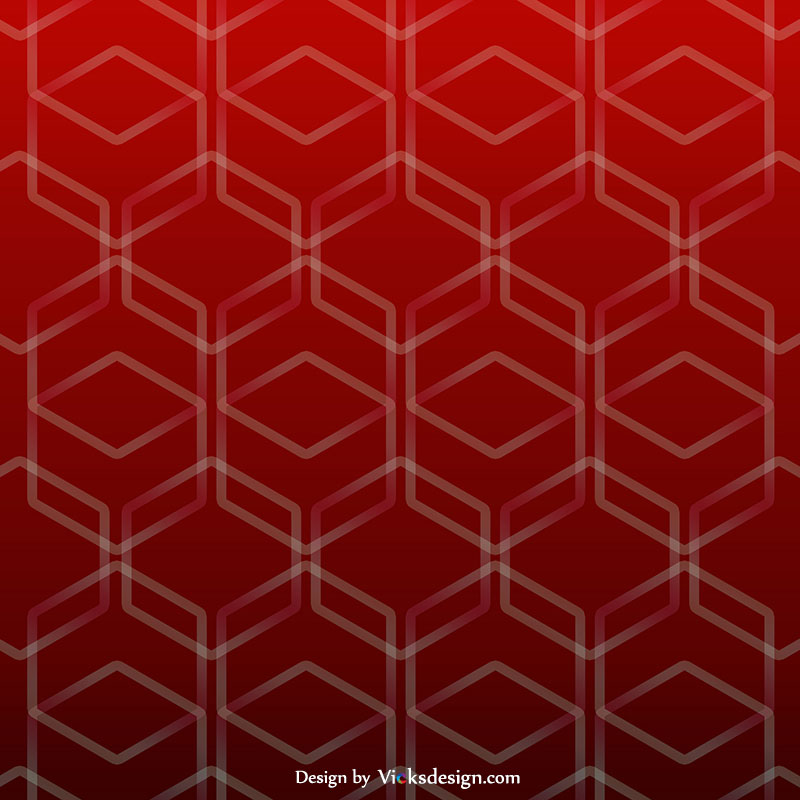 Hexa red pattern background