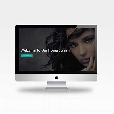Image creation photography website template