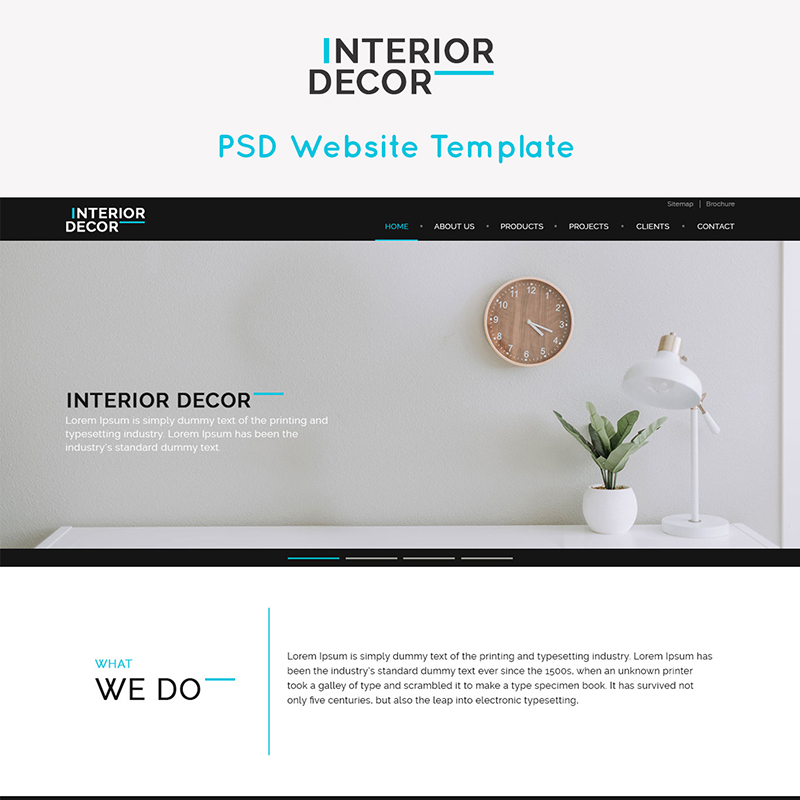 Interior Decor is a interior business layout PSD website template