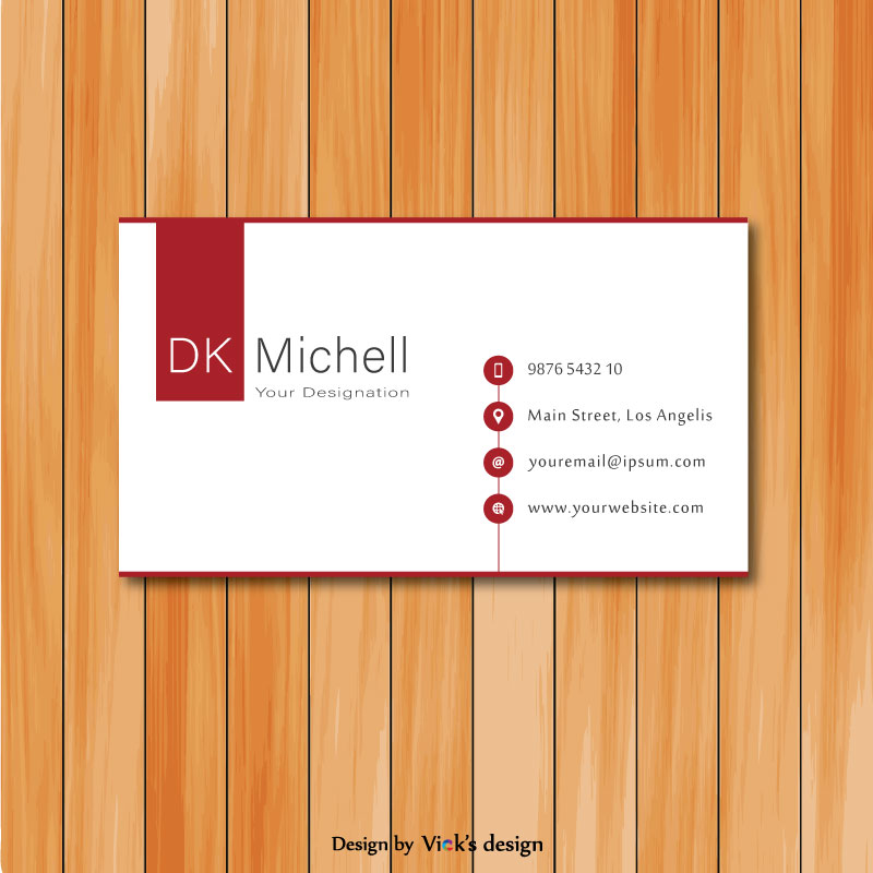 Maroon patch in white theme neat and clean personal business card vector maroon patch in white theme neat and clean personal business card colourmoves