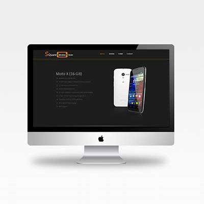 Mobile store website template