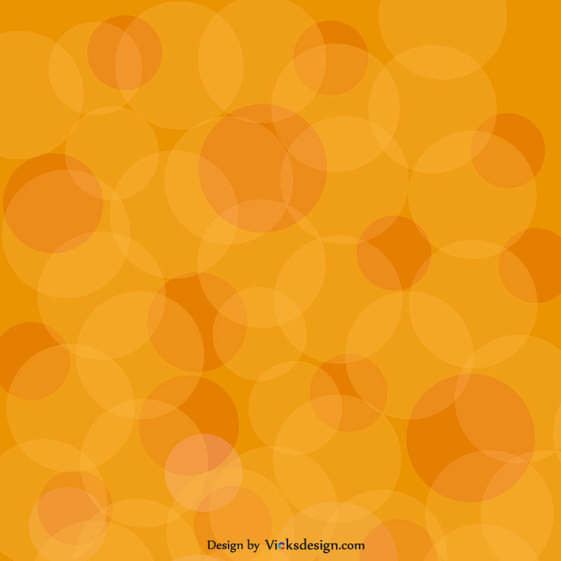 Orange circles abstract gradient background