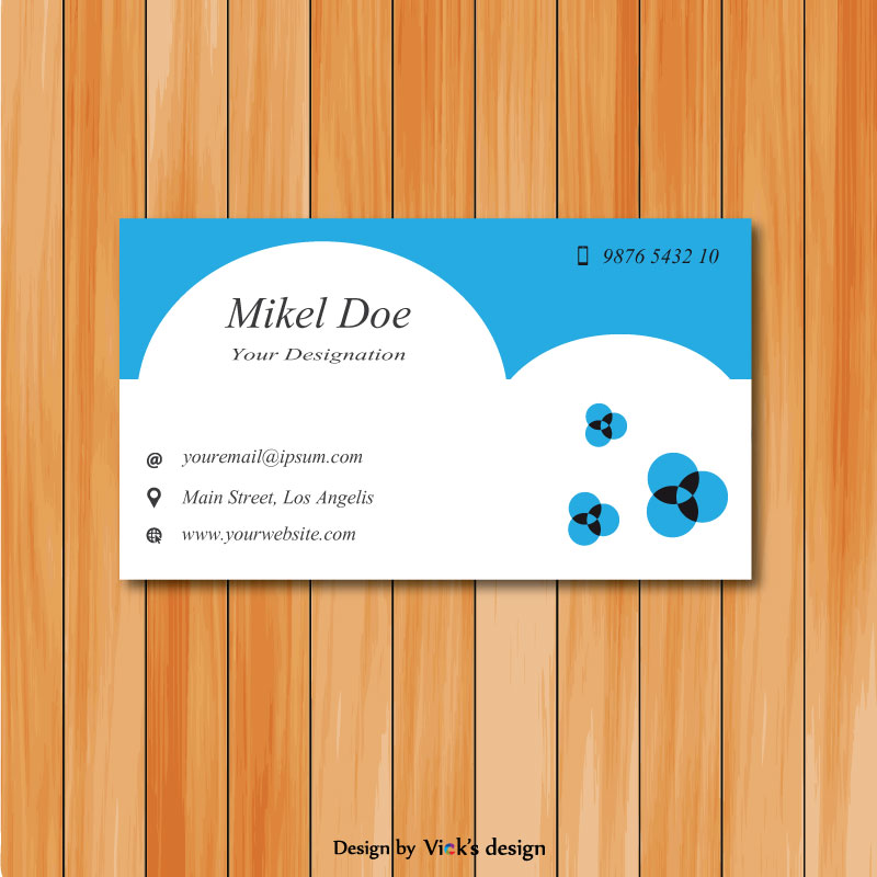 Professional artist Blue and white personal Business card