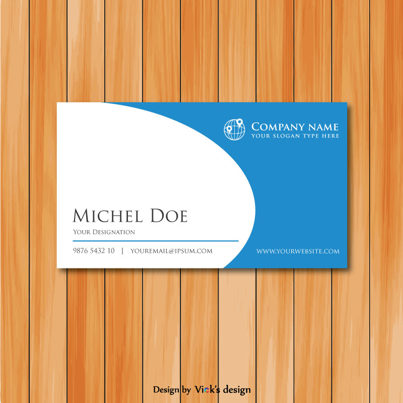 Rounded shape clean simple corporate business card template vector rounded shape clean simple corporate business card template cheaphphosting Images