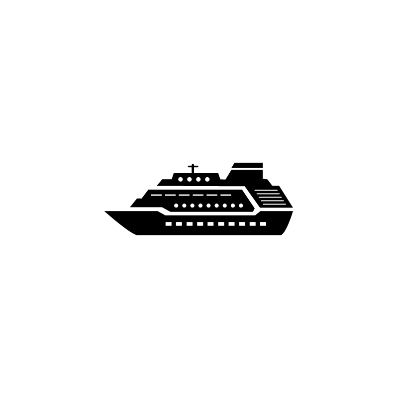 Ship Cruise Cargo Vessel Yacht Icon