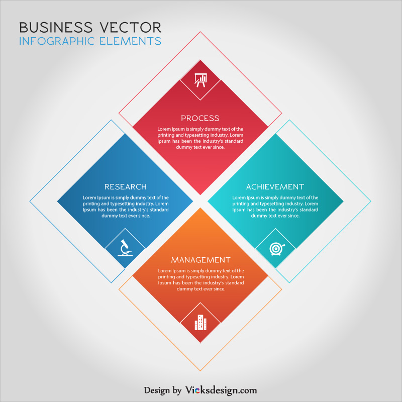 Square shape 4 steps business strategy concept, creative idea, project start up strategy, innovation vector illustration