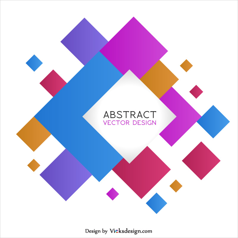 square shape abstract background creative colored template vector