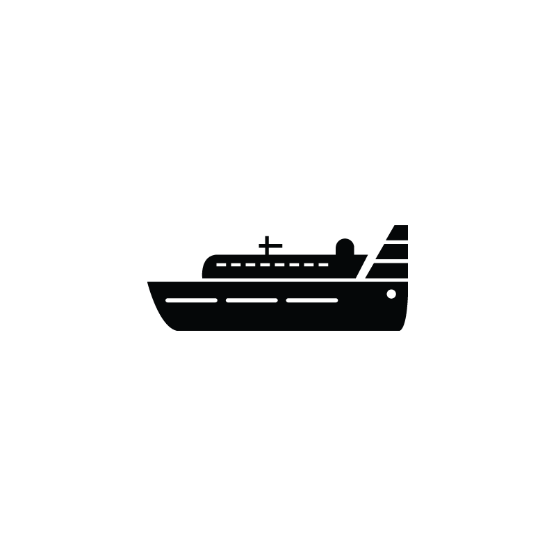 Vessel Cargo Yacht Cruise Ship Icon