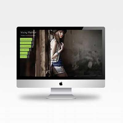 Vicky mathur photography website template