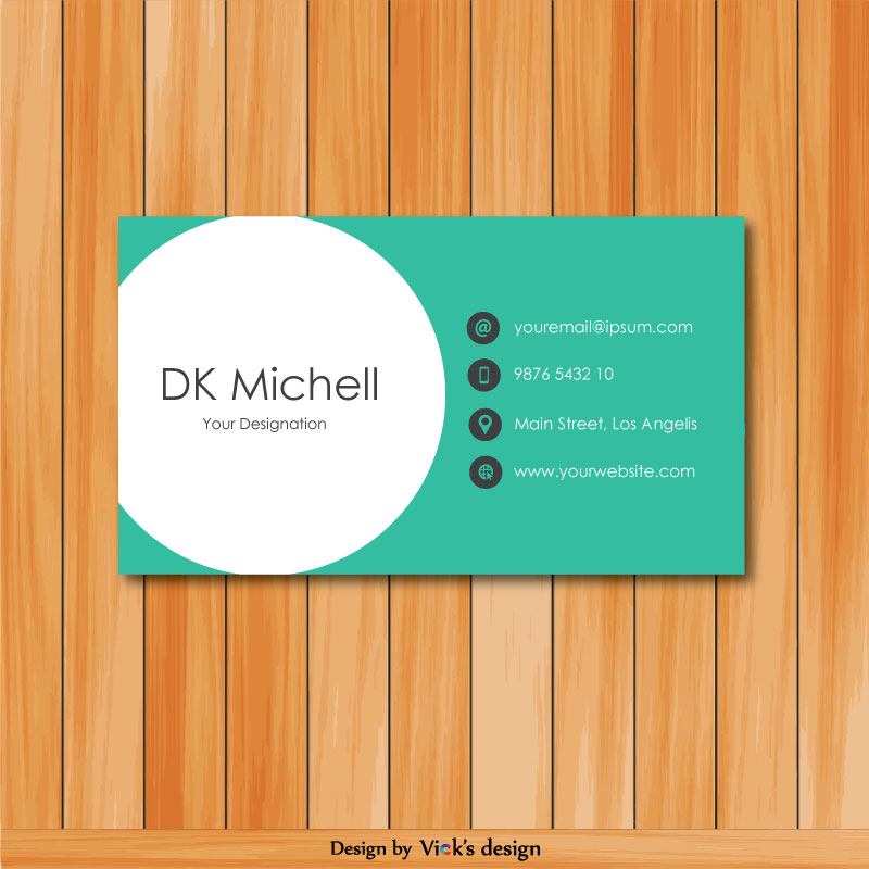 Professional Fashion Designer Creative Clean Business Card Template Vector